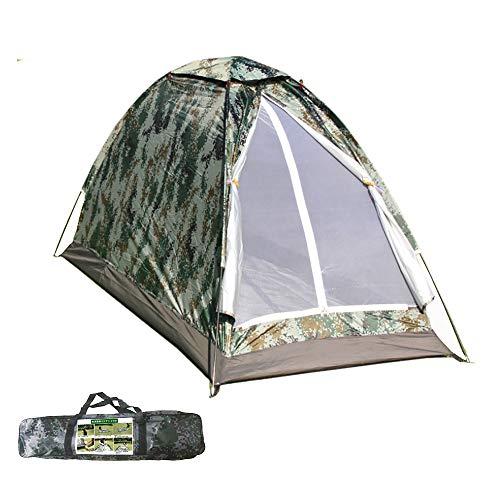 テント 2人&1人用 サンシェードテント ビーチテント キャンプテント ソロテント 小型テント コンパクト UVカット 防災 緊急 折り畳み 収納袋付き【取扱説明書付き】迷彩柄