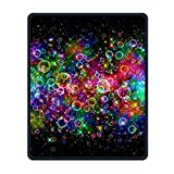 Bubbles Colorful Bright Portable Gaming Mouse Pad Comfortable Non-Slip Base Durable Stitched Edges 7.08 X 8.66 Inch, 3mm Thick