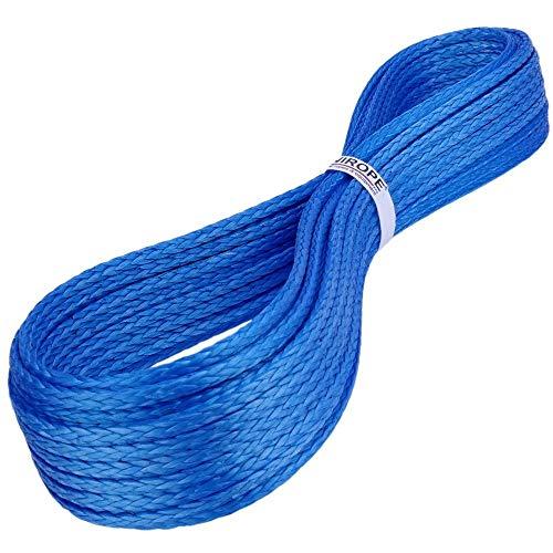 Kanirope® Dyneema Seil PRO 4mm 10m Blau 12-fach geflochten SK78 verstreckt beschichtet
