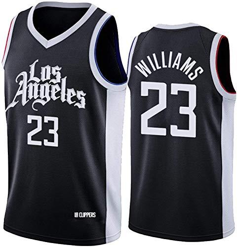 WSUN Camisetas De La NBA De Baloncesto para Hombre - Camiseta Lou Williams NBA 23# LA Clippers - Camiseta Deportiva De Baloncesto Sin Mangas Transpirable De Ocio,L(175~180CM/75~85KG)