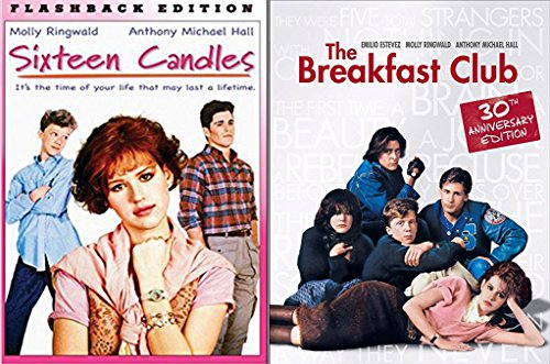 Sixteen Candles & The Breakfast Club... Flashback Fun Comedy 80's High School Teen movie Set Molly Ringwald Double Feature