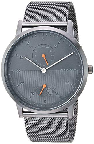 Skagen Men's Kristoffer Quartz Stainless Steel Mesh Watch Color: Gunmetal, 22 (Model: SKW6501)