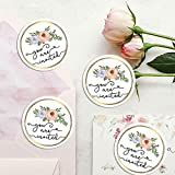120 x Circle Party Stickers, Wedding Invitation Stickers, Save The Date Labels, You're Invited, Join Us, Be Our Guest, Engaged