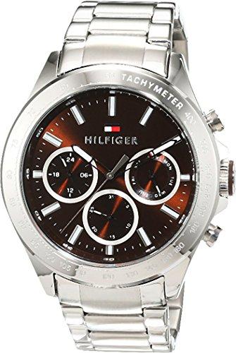 Tommy Hilfiger Herren Analog Quarz Uhr mit Edelstahl Armband 1791229