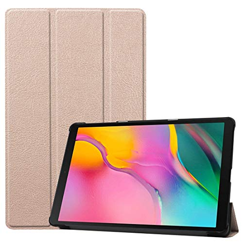 GLXC AYDD Custer Texture Horizontal Flip PU Leather Case for Galaxy Tab A 10.1 2019 (T515 / T510), with Three-folding Holder & Sleep/Wake-up Function (Black) (Color : Gold)