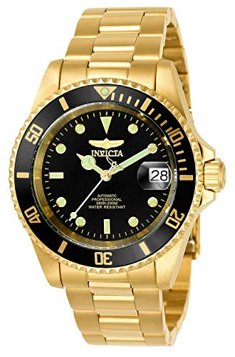 Invicta Men's 8929OB Pro Diver Analog Display Japanese Automatic Gold/Black Watch