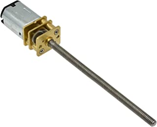 Gfpql WYanHua-Motor N20 Mini Micro DC Motor, Metall Växelmotor, DC 3 V/6 V/12 V, Axel M3 x 55 mm, 15/30/60/100/150/200/30...
