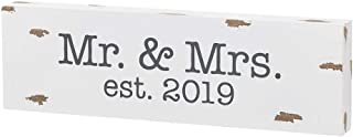 Collins Painting Couples-Themed Wood Block Sign (Mr. & Mrs. Est. 2019)