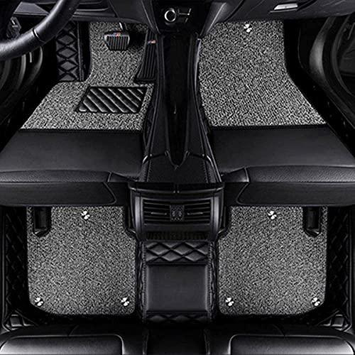 Pbtzfs Alfombrillas Coche Compatible Con BMW G30 X3 E83 X5 E53 X1 X4 X6 Z4 E60 E84 E70 F30 F10 E46 E90 G30 E34 F11 , Alfombrilla Impermeables para Todo Clima Antideslizantes Alfombras Coche Accesorios