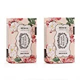 Panier des Sens Rose Nectar Shea butter soap - Made in France 95% natural - 2 bars, 7oz/200g each