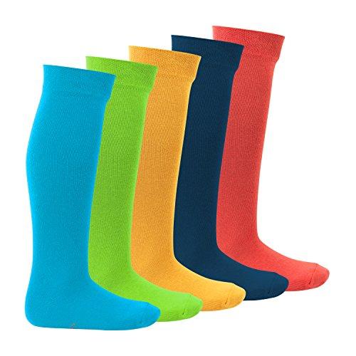 Footstar Kinder Kniestrümpfe (5 Paar) - Everyday! - Trendfarben 31-34