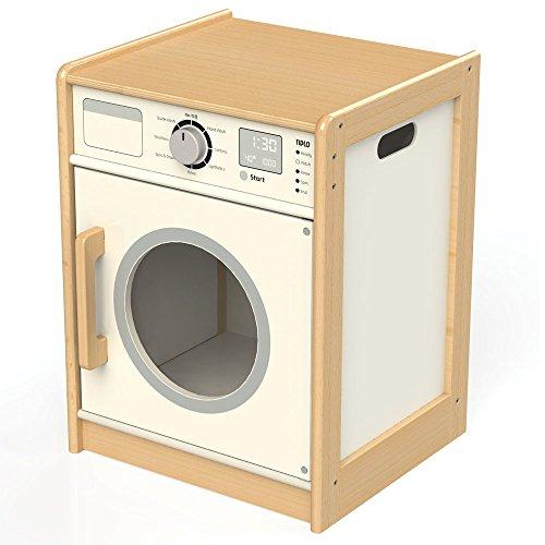 Tidlo T0302 Wooden Washing Machine Play Kitchen Accessories, Multi-Colour