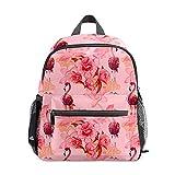 Mini mochila para niñas con diseño de flamencos tropicales y...