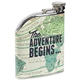 Wild & Wolf Cartography Hip Flask by Wild and Wolf