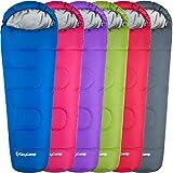 KingCamp Treck Serie Mumienschlafsäcke mit Kapuze 3-4 Jahreszeiten Kinder 165 x 70 x 45 cm