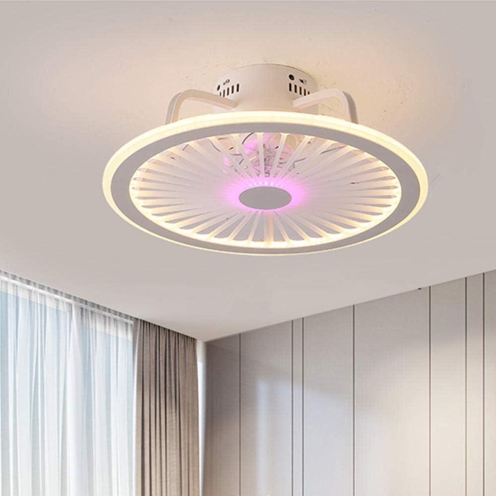 Lámpara de ventilador de techo inteligente retro con luces Luces de control remoto Techo 50 cm con control de aplicación Decoración de dormitorio Ventiladores de techo Moderno