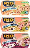 Rio Mare - Insalatissime Delizia di Mais e Tonno Pinne Gialle, 2 x 160g + Insalatissime alla Messicana e Tonno Pinne Gialle, 2 x 160g + Insalatissime Orzo, Farro e Tonno Pinne Gialle, 2 x 160g