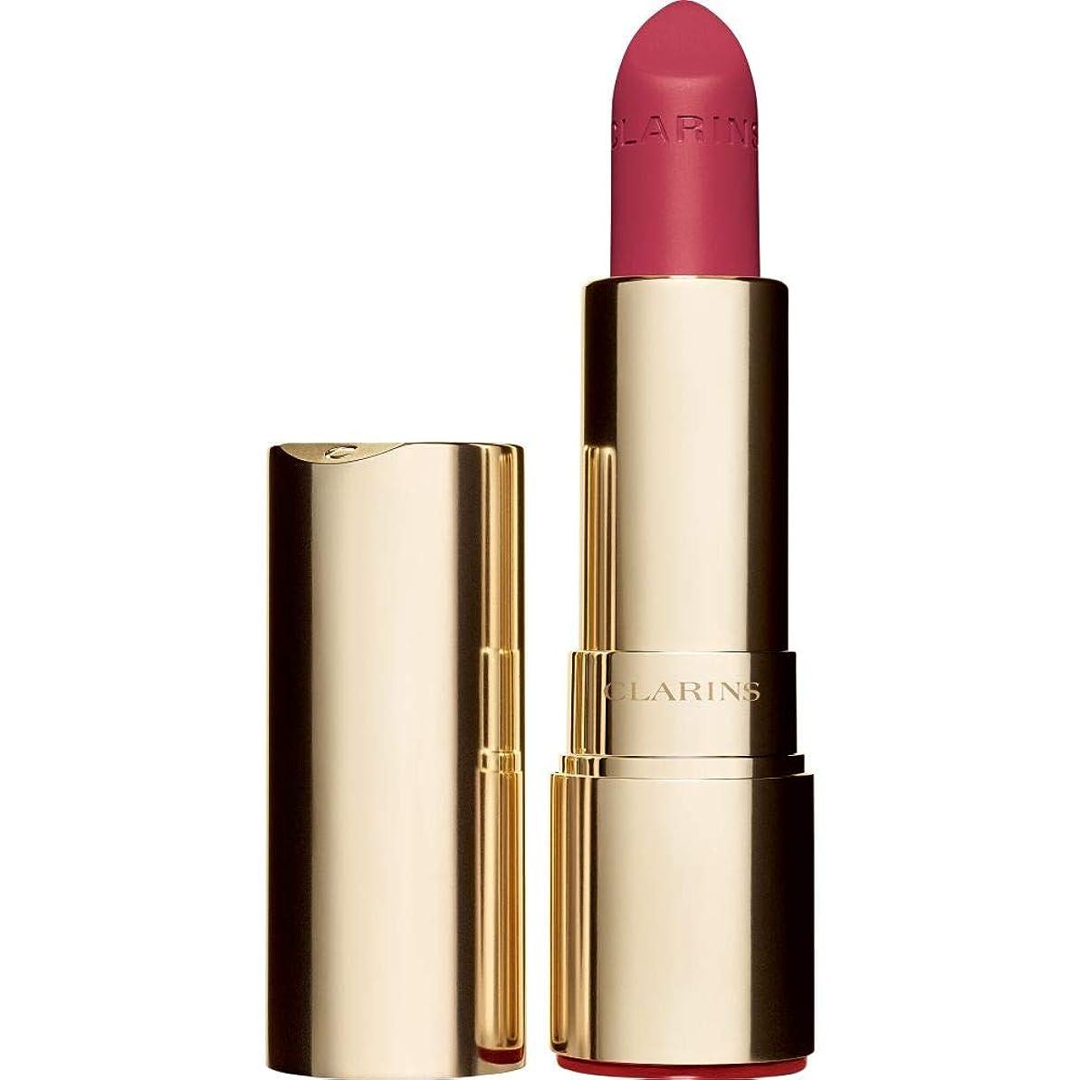 あえて来て対抗[Clarins ] クラランスジョリルージュのベルベットの口紅3.5グラムの756V - グアバ - Clarins Joli Rouge Velvet Lipstick 3.5g 756V - Guava [並行輸入品]