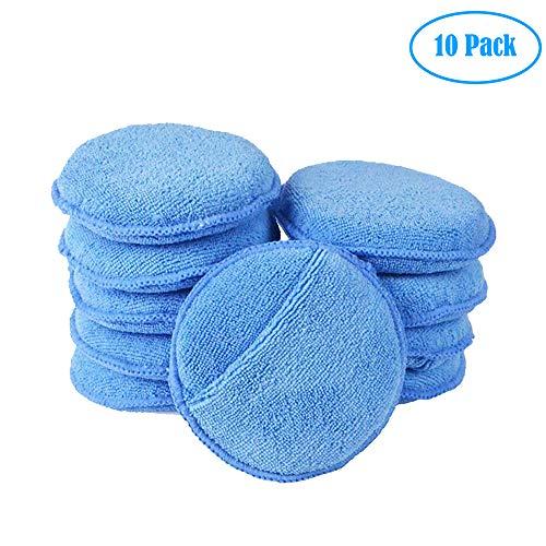 Fancartuk Almohadillas de Espuma para encerar el Coche, 10 Unidades de Esponja de Microfibra para encerar el Coche