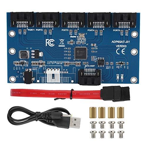 Zer one SATA3.0 1 bis 5 Hub Ports SATA Port Splitter mit Multiplikator Mainboard 6 Gbit/s Riser Karte Unterstützung für SATA 3.0 Erweiterungskarten PM JMICRON JMB575