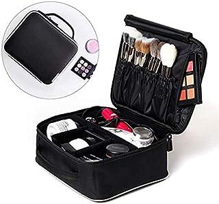 ROWNYEON Makeup Train Case Makeup Travel Bag Mini Cosmetic Bag Organizer Professional Portable Cosmetic Makeup Case for Wo...
