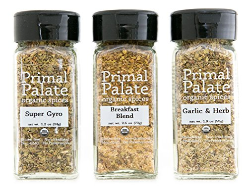 Primal Palate Organic Spices - Everyday AIP Blends 3-Bottle Gift Set