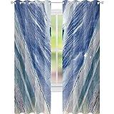 YUAZHOQI Cortinas de mármol ónix piedra estilo tribal con elementos de color ágata cortinas opacas para sala de estar de 132 x 160 cm
