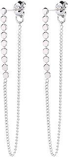 Chain Earrings Dainty Stud Earrings Minimalist Sterling Silver Dangle Earrings for Women