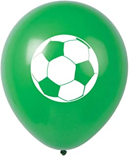 MAGJUCHE Soccer Party Latex Balloons, 16pcs Green Soccer Themed Birthday Party Supplies, Decorations