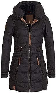 E-Scenery Coat, Women Turtleneck Solid Warm Zipper Plus Cotton Long Jacket Outwear
