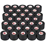 Cramer Team Color Athletic Tape, Black, For Ankle, Wrist, and Injury Taping, Helps Protect and Prevent Injuries, Promotes Faster Healing, Athletic Training First Aid Supplies, 1.5', Bulk 32 Roll Case