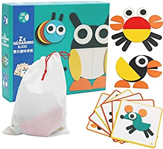 Early Childhood Educational Toy, Wooden Jigsaw puzzle, Ability of Cognizance, Creative Animal Characters, Safe Material, 3 Years and Above