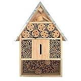 KH Hôtel à insectes XL en bois naturel pour abeilles, coccinelles, papillons, bourdons et insectes volants, maison d'abeilles – Livré monté – pas de kit