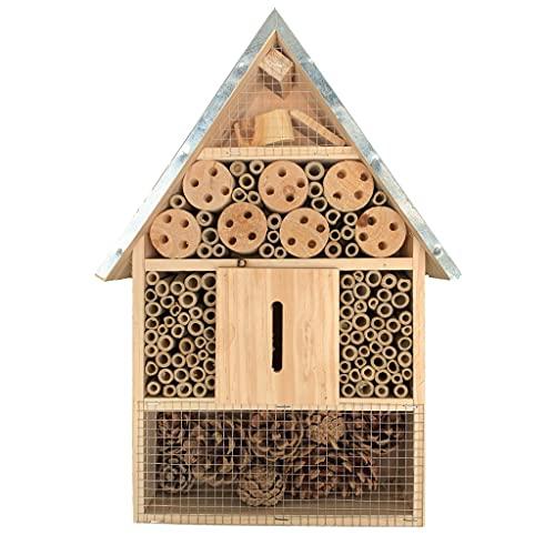 KH Hôtel à insectes XL en bois naturel pour abeilles, coccin