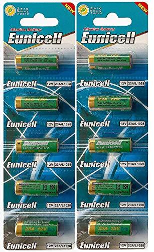 Energy01 Alcalina 23A MN21 - Lote de 10 pilas de 12 V sin mercurio, pack multiahorro (A23/V23GA/LRV08/8LR932) diseñado para mandos a distancia, campanas y sistemas de seguridad (10 pilas)