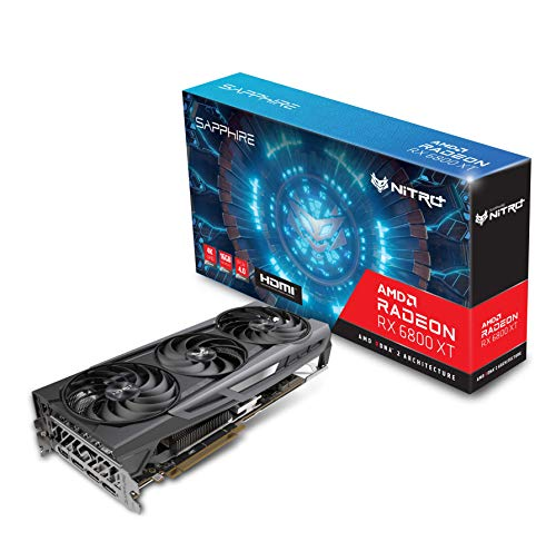 Sapphire 11304-02-20G Nitro+ AMD Radeon RX 6800 XT PCIe 4.0 Gaming Graphics Card with 16GB GDDR6