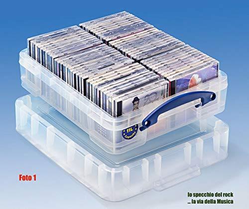 Contenitore Antiurto per 70/90 CD Custodia Jewel case Standard e Slim