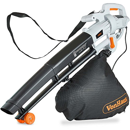 VonHaus 3 in 1 Leaf Blower - 3000W Garden Vacuum & Mulcher - 35 Litre Collection Bag, 10:1 Shredding...