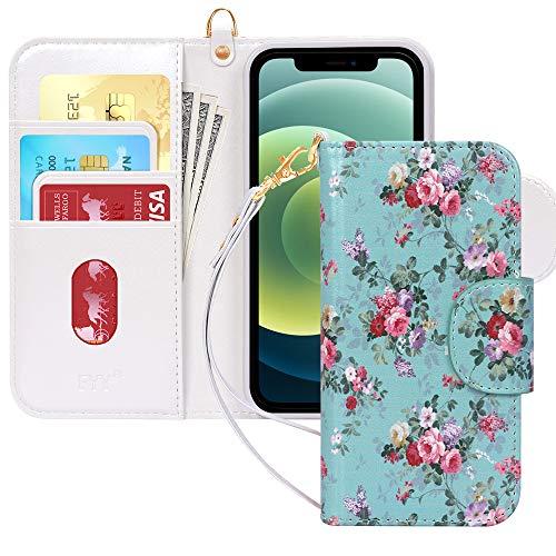 """Fyy Coque pour iPhone 12/12 Pro Fait main PU Cuir Portefeuille Étui de protection antichoc avec [porte-cartes] et [poche pour notes] pour Apple iPhone 12/12 Pro 15,5"""" (2020) Motif 27"""
