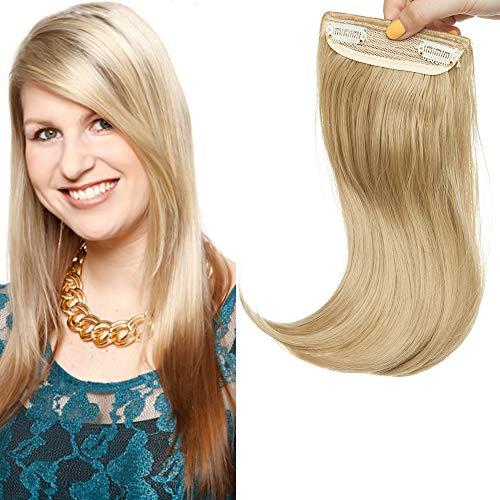 Pony Haarteil 2 Clips Extensions Fringe Bangs One Piece In Front Hair Haarverlängerung wie Echthaar Mittelblond
