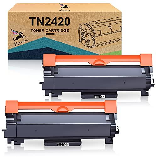 FITU WORK Compatibili Cartucce Toner Sostituzione per Brother TN2420 TN2410 per MFC-L2710DW MFC-L2710DN HL-L2350DW MFC-L2730DW MFC-L2750DW HL-L2310D HL-L2370DN HL-L2375DW DCP-L2530DW L2510D L2550DN
