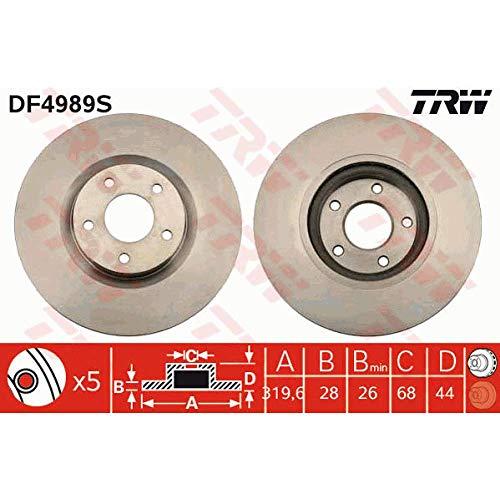Preisvergleich Produktbild TRW DF4989S Bremsscheibe Scheibenbremsen,  Bremsscheiben (x2)