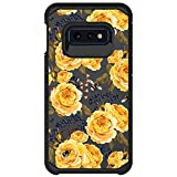 MINITURTLE Compatible with Samsung Galaxy S10e, Samsung Galaxy S10 Lite G970U Dual Layer Hard Shell Hybrid Protective Case - Bumble Bee Flowers