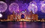 Diy 5D Diamante Pintura Por Kits De Números Atlantis The Palm Fireworks Redondo Taladro Completo Bordado Punto De Cruz Para La Decoración De La Pared Del Hogar Regalo De San Valentín 30x40cm