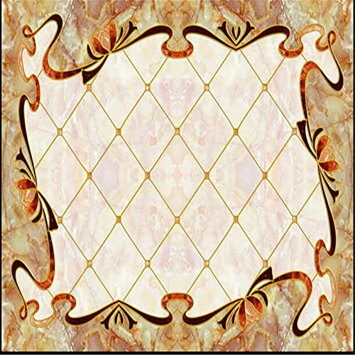 Piso personalizado 3d papel tapiz impermeable simple alfombra europea parquet decoración de estilo europeo sala de estar piso del dormitorio -200 * 140 cm