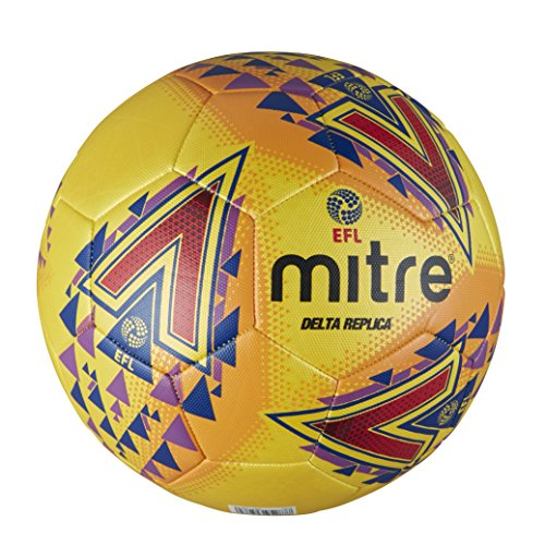 Mitre EFL Delta Replica Training Football, Yellow, Size 5