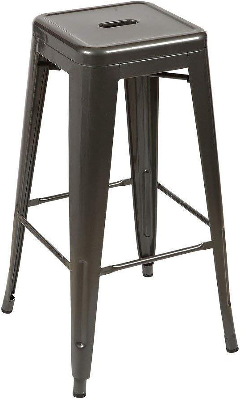 Tolix Style Bar Stool, Gunmetal