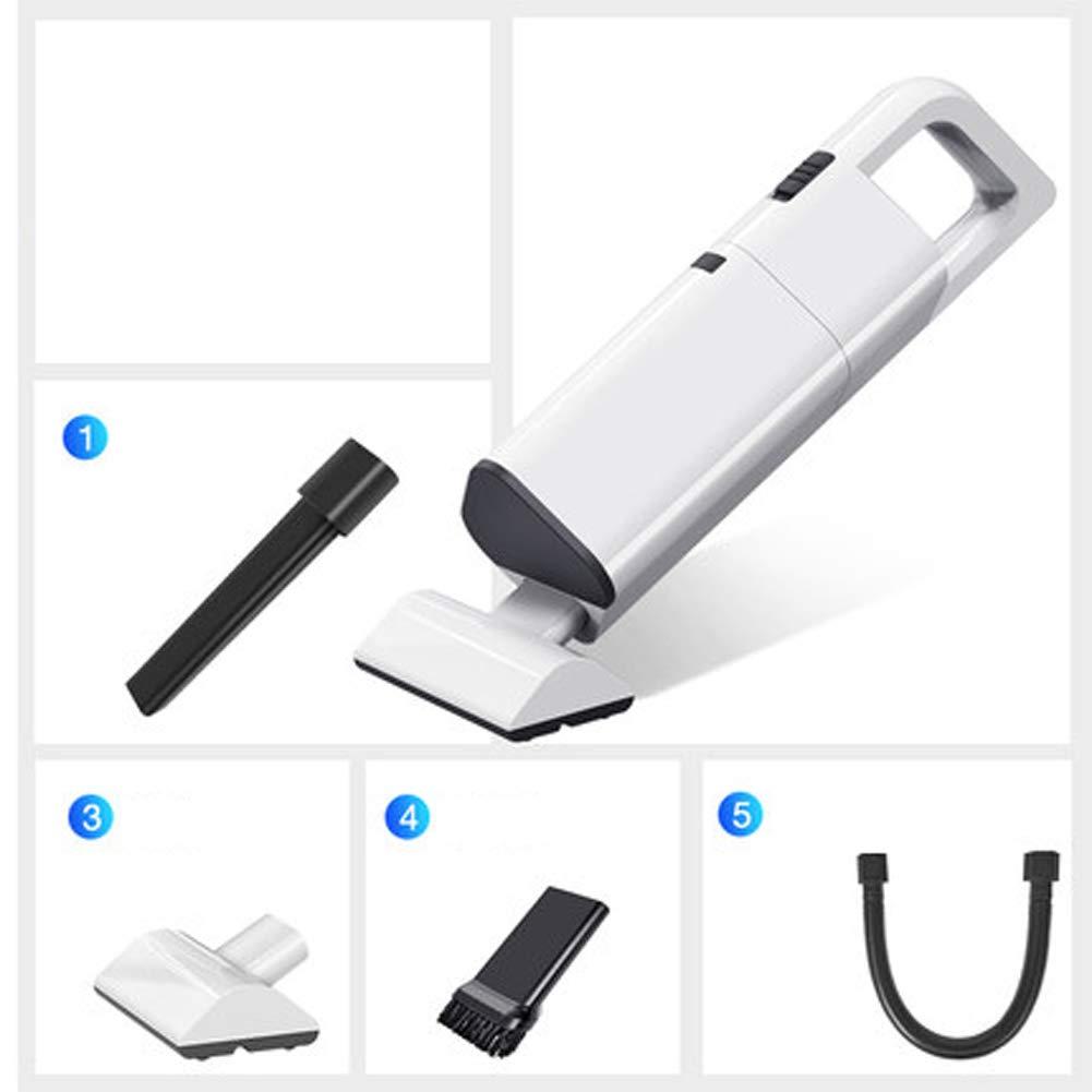 HDJX - Aspirador Recargable inalámbrico Mini hogar portátil con Mano de Bolsillo, Potente, Punto de succión, sofá Mini Coche, 1, L 100.00watts: Amazon.es: Hogar