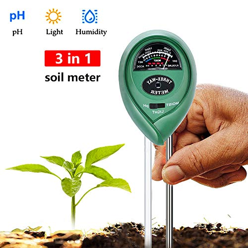 You's Auto Soil Moisture Sensor Meter,3 in1 PH Tester Soil Water MoistureFor Gardening Tools, Lawn, Farm, Plants and Herbs, Indoor and Outdoors Soil Tester
