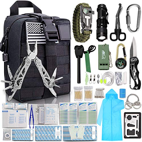 Camping Survival Gear Kit Military Tactical Emergency EDC Outdoor Hiking Molle